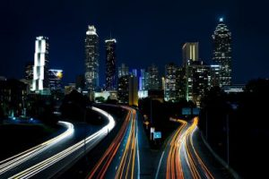 atlanta highway at night